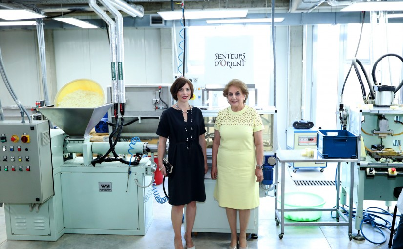 The First Lady Mrs Nadia Aoun & the Wife of Swiss President Visit the Senteur Dorient