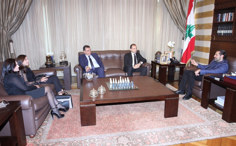 Pr Minister Saad Hariri meets the Family of the Late Minister Ali Kanso