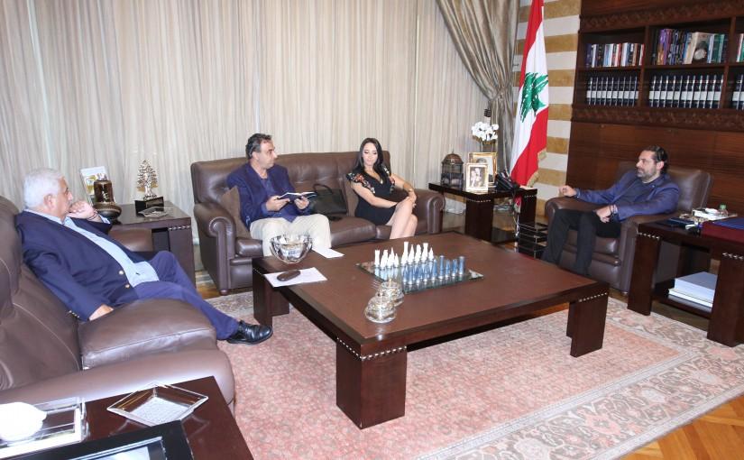 Pr Minister Saad Hariri meets a Delegation from JAD