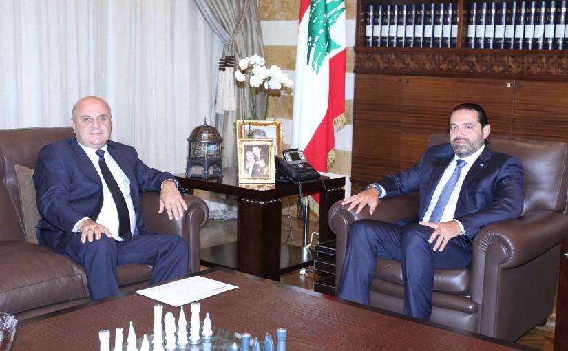 Pr Minister Saad Hariri meets Mr Mouhamad el Basset