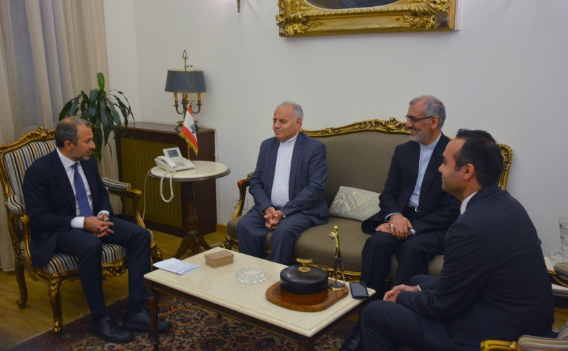 Minister Gebran Basil Meets Representative of the Assyrian sect in the Iranian parliament Yonathan Betkolia