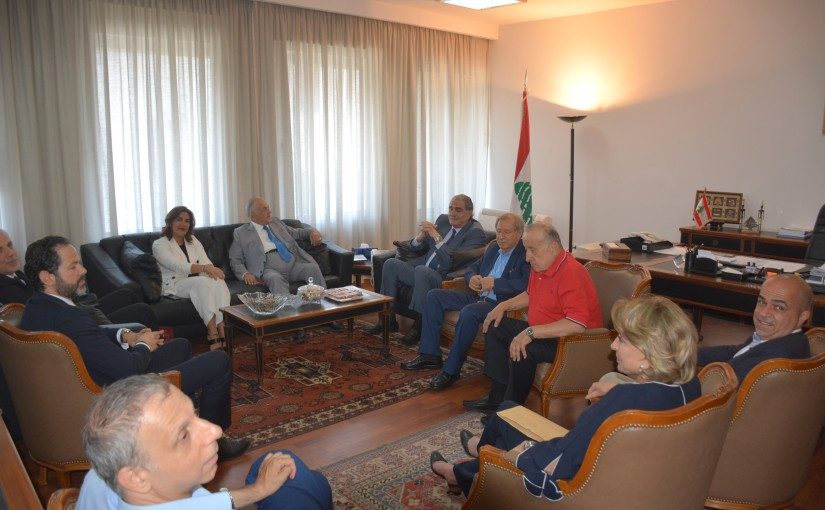 Minister Selim Jreysati Meets a Delegation From The Media