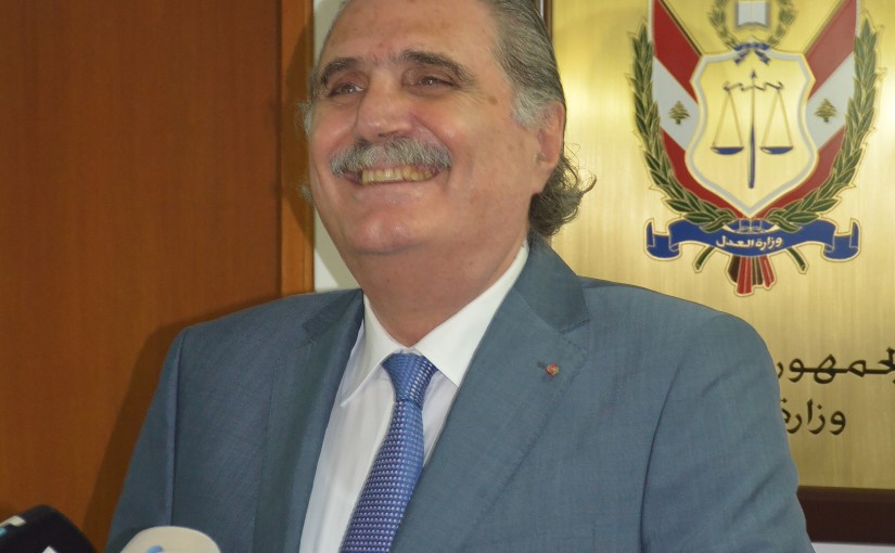 Press Conference For Minister Selim Jreisati