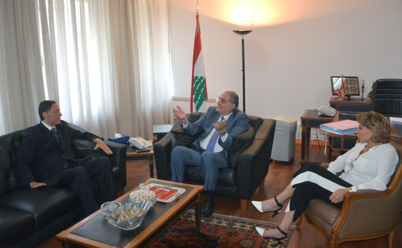 Minister Selim Jreisati Meets Chairman of the Election Supervisory Authority  Judge Nadim Abdul Malik