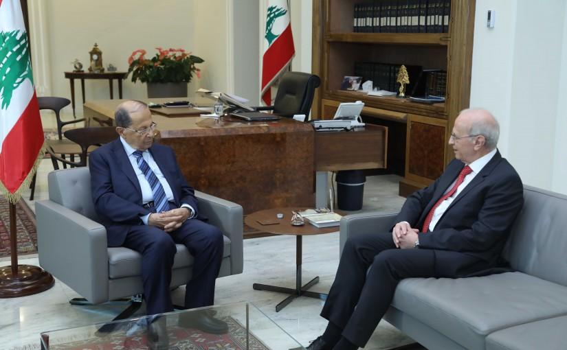 President Michel Aoun Meets State Prosecutor Judge Samir Hammoud