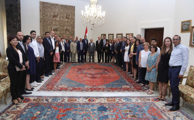 President Michel Aoun Meets a Delegation From Lebanese Diaspora in Europe