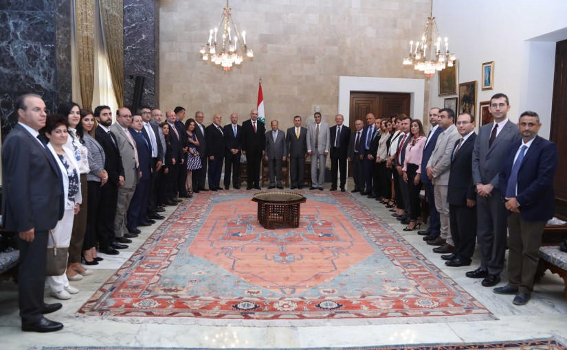 President Michel Aoun Meets a Delegation From The Ministry of Agriculture Headed By Mr Louis Lahoud