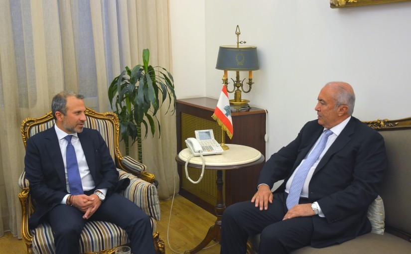 Minister Gebran Basil Meets MP Fouad Makhzoumi