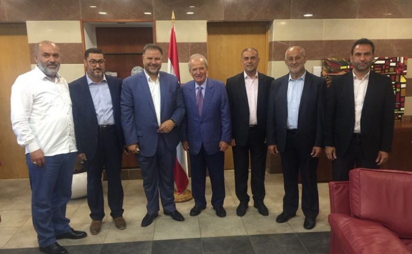 Minister Marwan Hemedeh Meets MP Ali Fayad with a Delegation