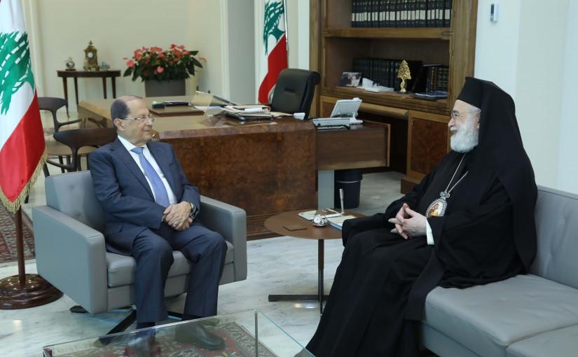 President Michel Aoun Meets Metropolitan Elias Aude