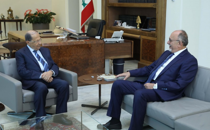 President Michel Aoun Meets MP Estphan Doueihi