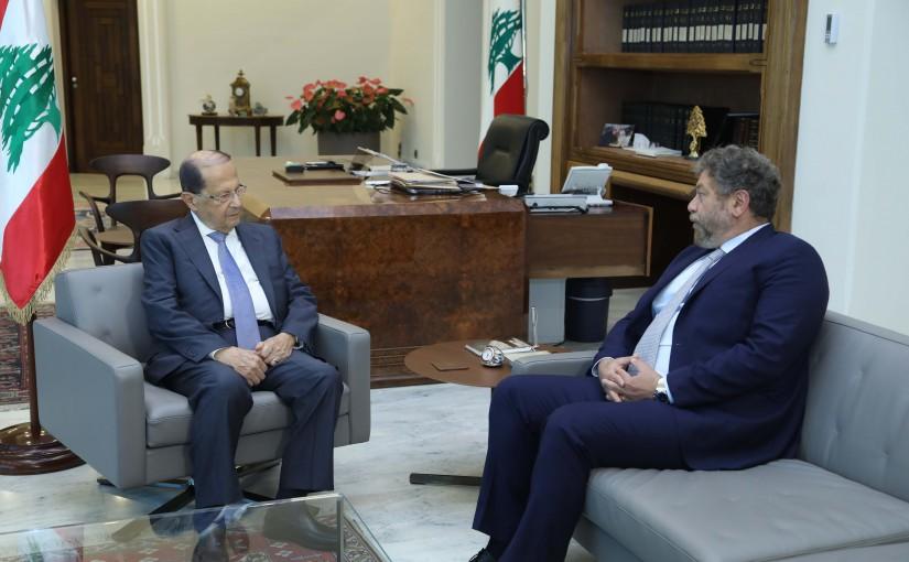 President Michel Aoun Meets MP Neamat Efrem