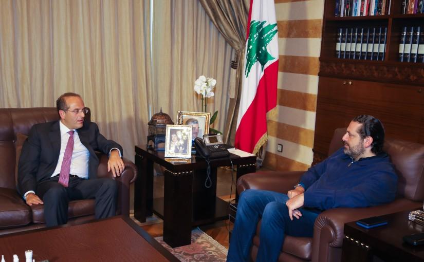Pr Minister Saad Hariri meets Minister Raed Khoury