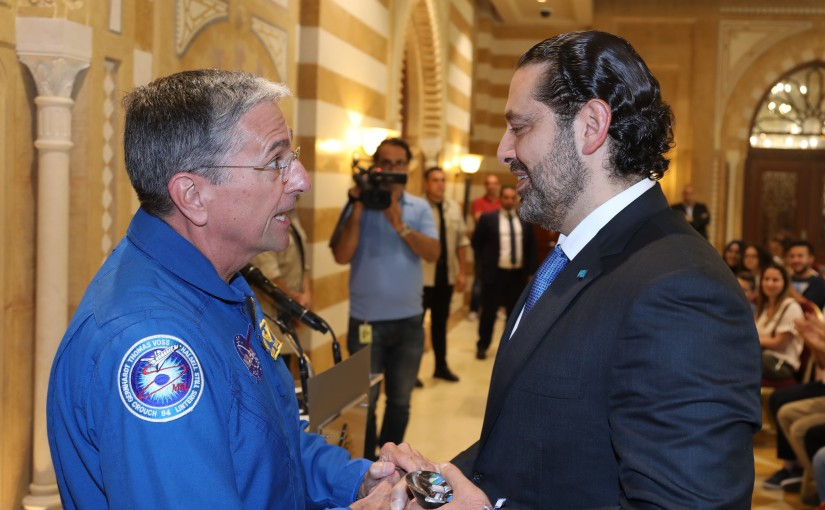Pr Minister Saad Hariri meets a Delegation from Arab Scout