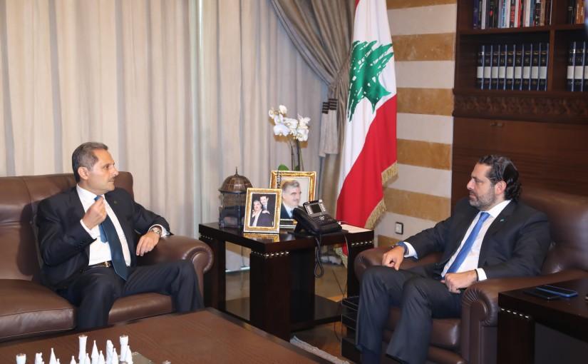 Pr Minister Saad Hariri meets Mr Samir Hamoud