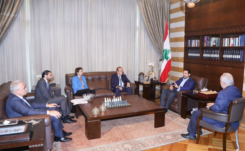 Pr Minister Saad Hariri meets Minister Raed Khoury with a Delegation