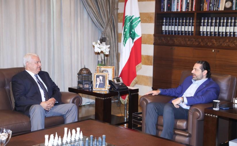 Pr Minister Saad Hariri meets Head of Tripoli Municipality