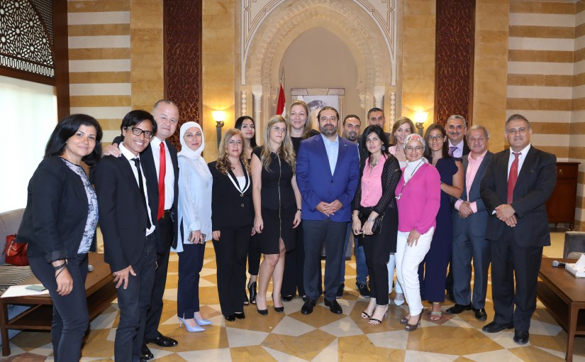 Pr Minister Saad Hariri meets a Delegation from Tripoly Families