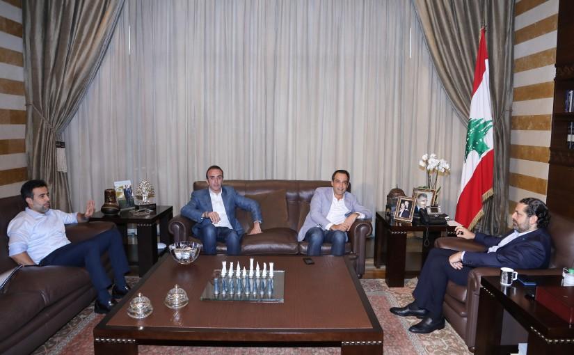 Pr Minister Saad Hariri meets Mr Nabil Bader