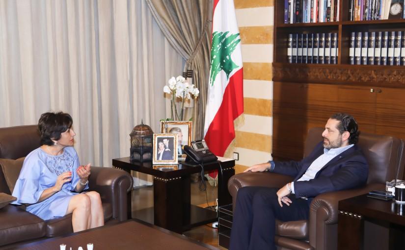 Pr Minister Saad Hariri meets Ambassador Amal Moudalale