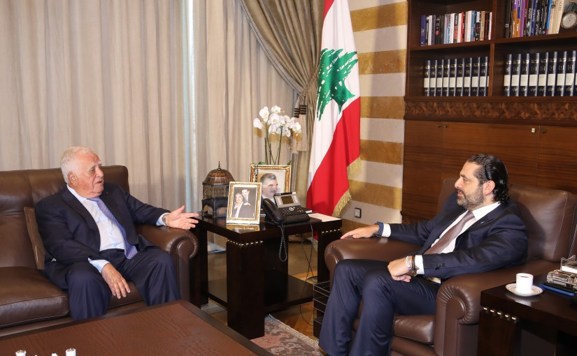 Pr Minister Saad Hariri meets Former Minister Adnan kassar