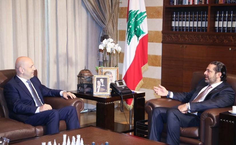 Pr Minister Saad Hariri meets Minister Ghassan Hassbani