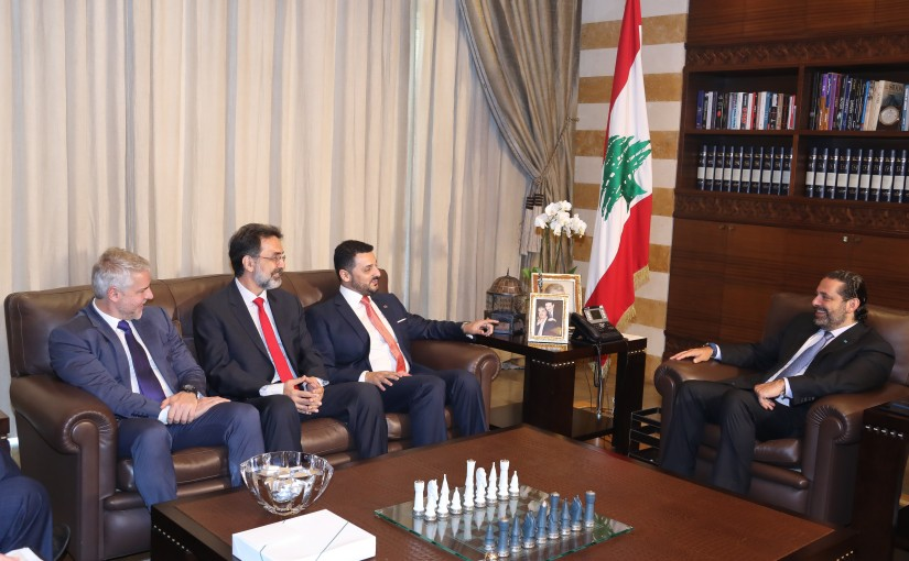 Pr Minister Saad Hariri meets a Brazilian Delegation