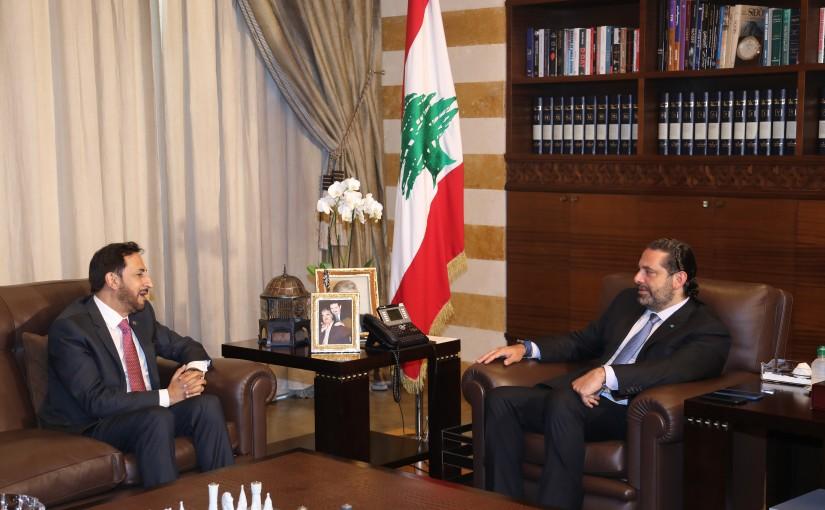 Pr Minister Saad Hariri meets Ambassador Maher el Kheir