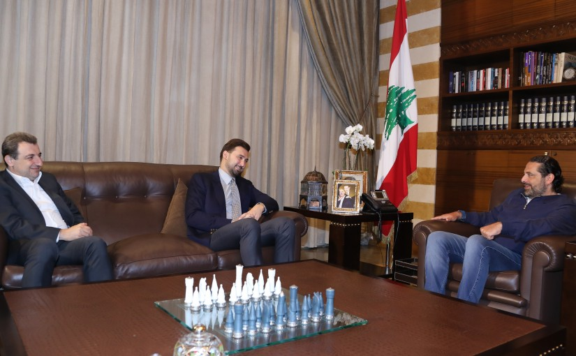 Pr Minister Saad Hariri meets a Delegation from Lebanese Businessman