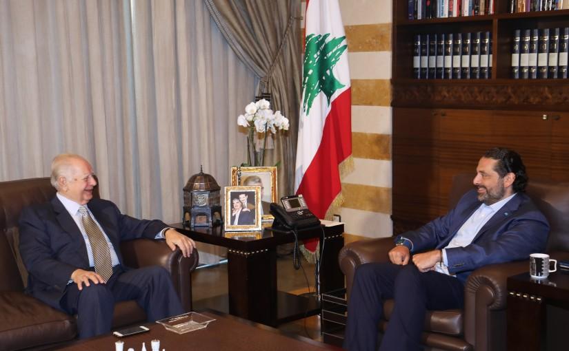 Pr Minister Saad Hariri meets Mr Moustapha Jouneid
