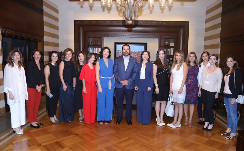 Pr Minister Saad Hariri meets a  Delegation from Lebanese Business women