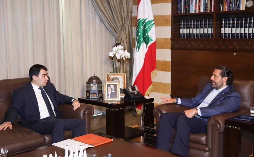 Pr Minister Saad Hariri meets Minister Cesar Abi Khalil