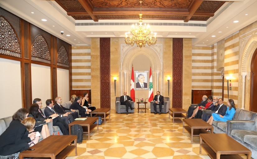 Pr Minister Saad Hariri meets Swiss President