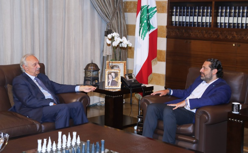 Pr Minister Saad Hariri meets Minister Mouhamad Safadi