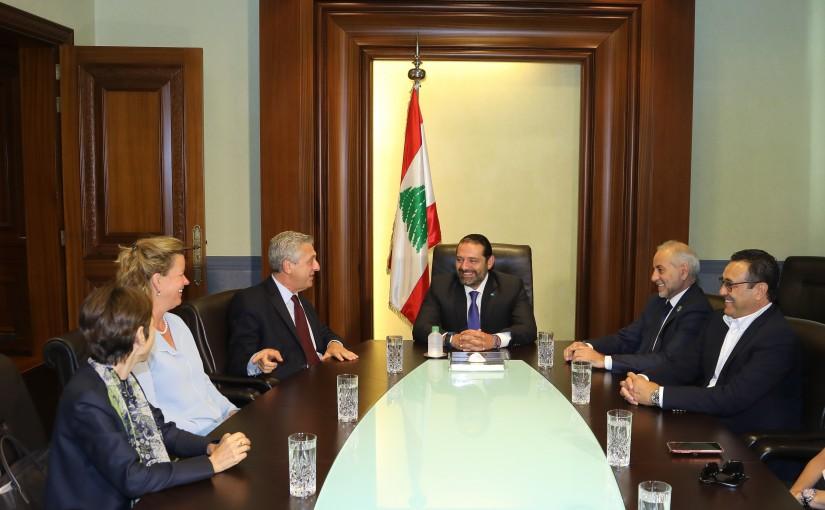 Pr Minister Saad Hariri meets Mr Philipo Grandi