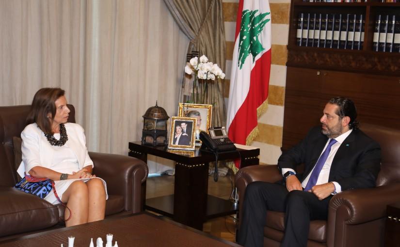 Pr Minister Saad Hariri meets Ambassador Dona Barrakat