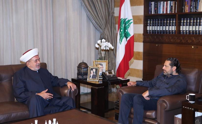 Pr Minister Saad Hariri meets Mufti Salim Sousan