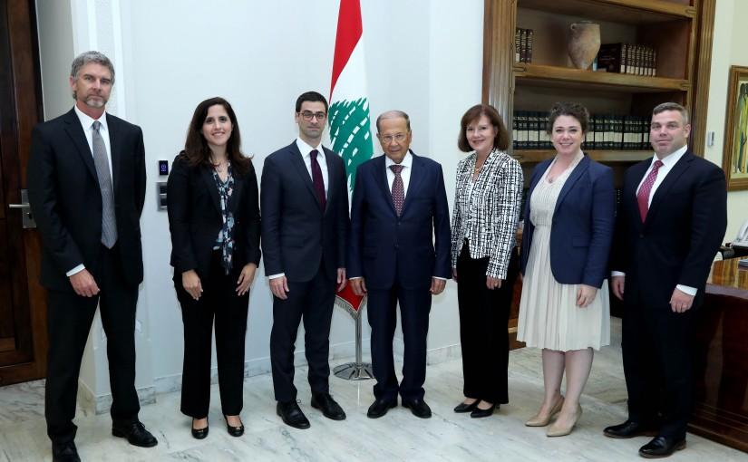 President Michel Aoun meets Assistant Secretary for International Security Affairs Robert Story Karem