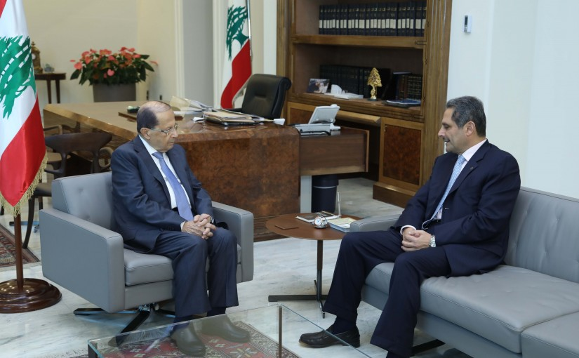 President Michel Aoun Meets Chairman of the Banking Control Commission of Lebanon Mr Samir Hammoud