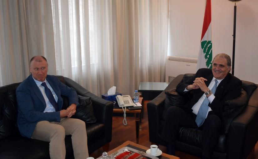 Minister Selim Jreisati Meets Australian Ambassador