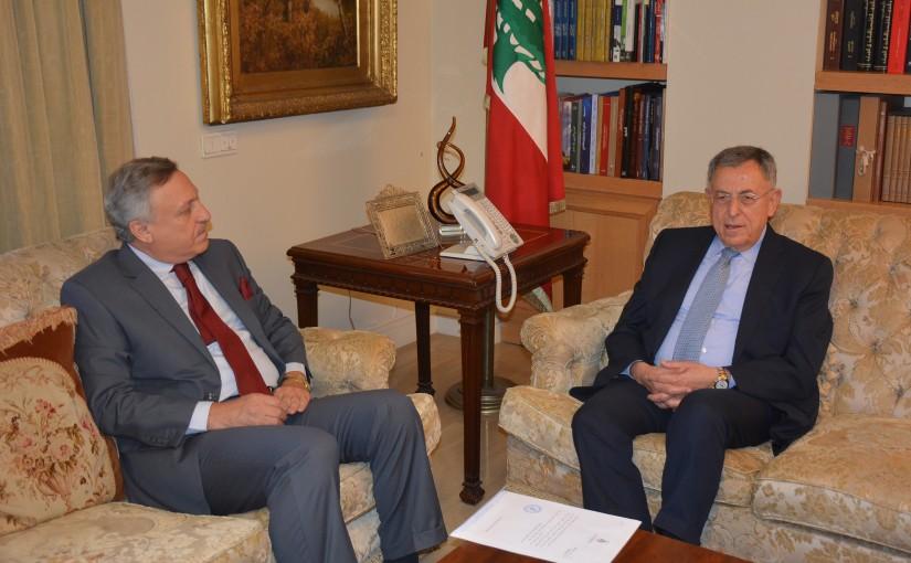 Former Pr Minister Fouad Siniora Meets Jordan Ambassador