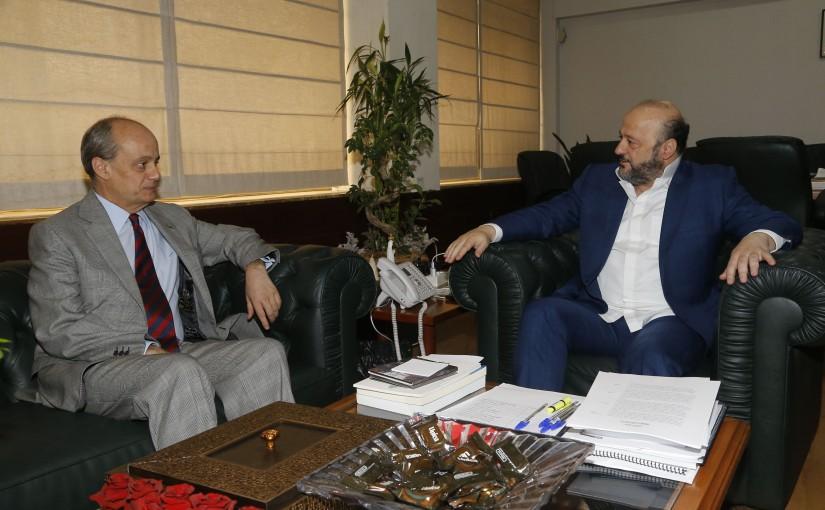 Minister Melhem Riachi meets Greek Ambassador