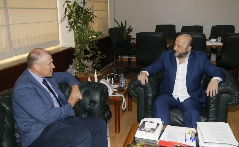 Minister Melhem Riachi meets Australian Ambassador