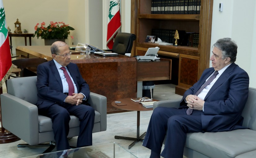 President Michel Aoun meets Former Minister Naji Boustani