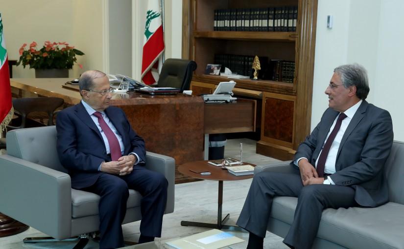 President Michel Aoun meets Judge Henri Khoury