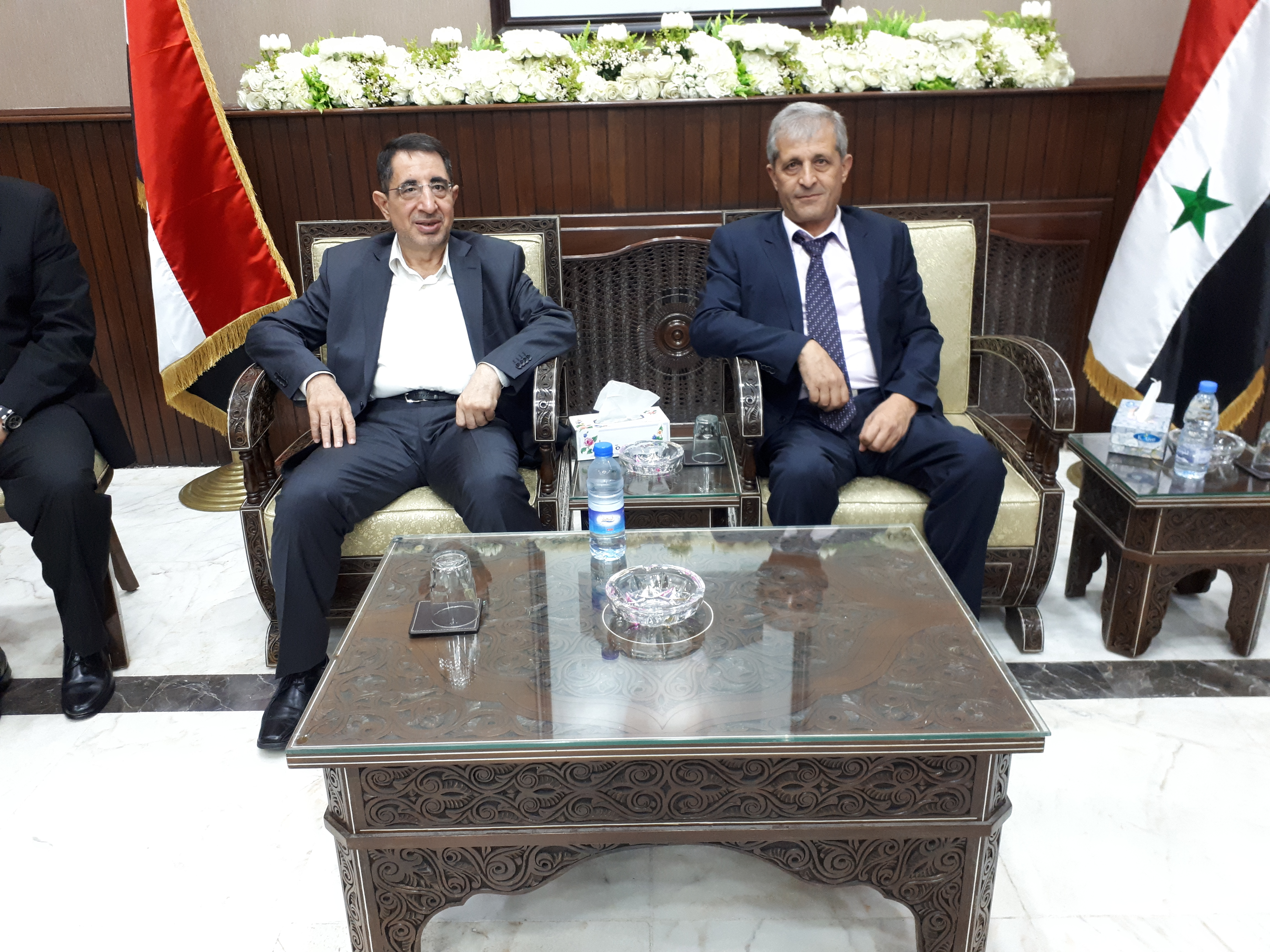صورة وصول الوزير الحاج حسن الى دمشق