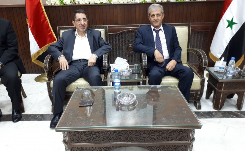 The Arriving of Minister Hussein Hajj Hassan to Syria