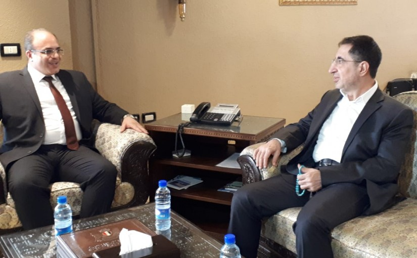 Minister Hussein Hajj Hassan Meets Syrian Minister of Economic