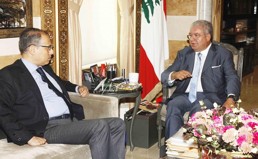 Minister Nouhad El Machnouk Meets Egyptian Ambassador