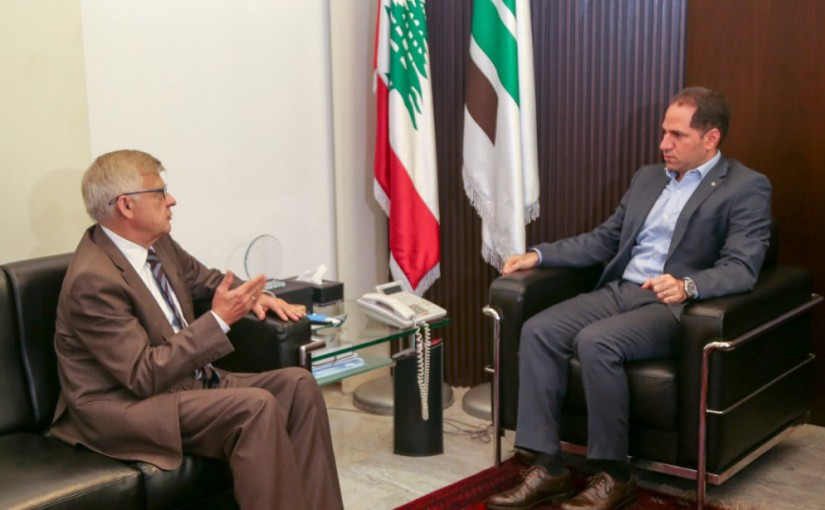 MP Sami Gemayel Meets Russian Ambassador